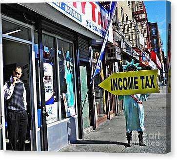 Tax Season Canvas Print by Sarah Loft