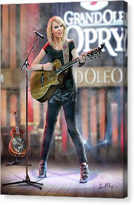 Taylor At The Opry Canvas Print by Don Olea