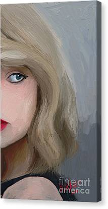 Taylor Swift  Canvas Print by Barbara Stanley