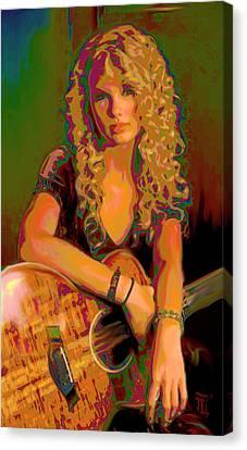 Taylor Swift Canvas Print by  Fli Art