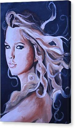 Taylor Swift Painting Canvas Print by Mikayla Ziegler