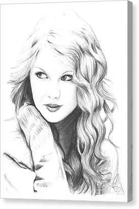 Taylor Swift Canvas Print by Rosalinda Markle