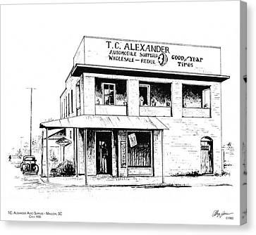 Tc Alexander Store Canvas Print by Greg Joens