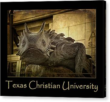 Tcu Frog Poster 2015 Canvas Print by Joan Carroll