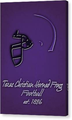 Tcu Horned Frogs Helmet Canvas Print by Joe Hamilton