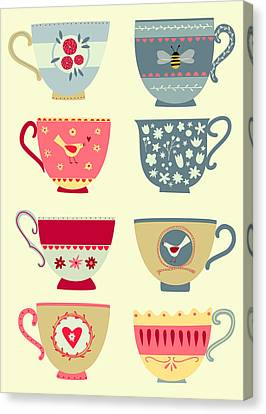 Tea Cups Canvas Print by Nic Squirrell