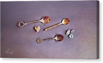 Tea For Three Canvas Print by Elena Kolotusha
