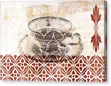 Tea House Canvas Print by Frank Tschakert