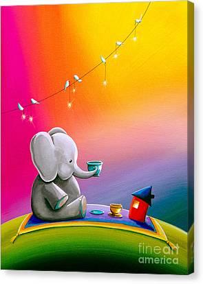 Tea Time Canvas Print by Cindy Thornton