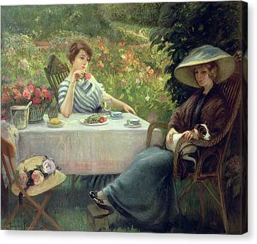Tea Time Canvas Print by Jacques Jourdan