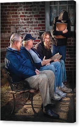 Teacher - The Scholars Canvas Print by Mike Savad