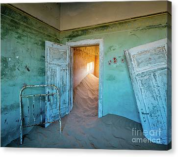 Teal Room Canvas Print by Inge Johnsson