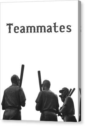 Teammates Poster - Boston Red Sox Canvas Print by Joann Vitali