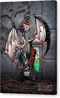 Tech-n-dustrial Music Dragon Canvas Print by Stanley Morrison