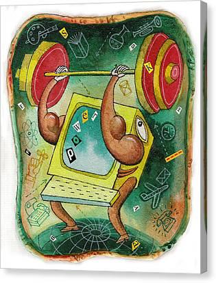 Technology Strengths Canvas Print by Leon Zernitsky