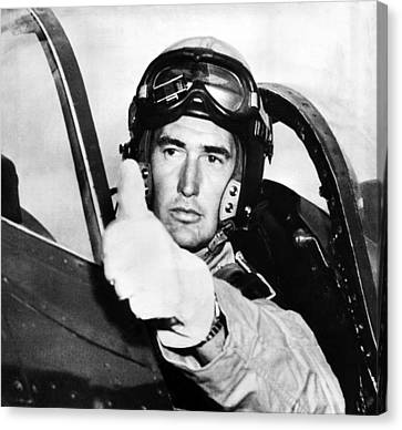 Ted Williams 1918-2002, American Canvas Print by Everett