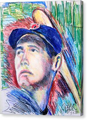 Ted Williams Boston Redsox  Canvas Print by Jon Baldwin  Art