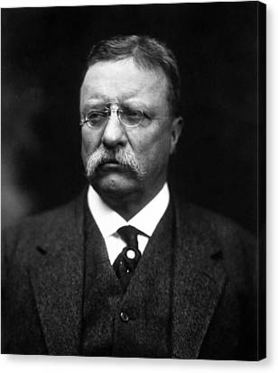 Teddy Roosevelt Canvas Print by War Is Hell Store