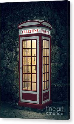 Telephone Booth Canvas Print by Carlos Caetano