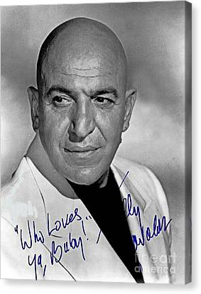 Telly Savalas Autographed Photograph Canvas Print by Pd