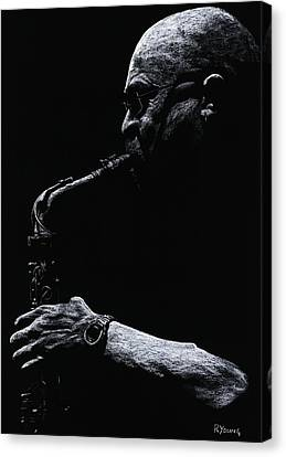 Temperate Sax Canvas Print by Richard Young