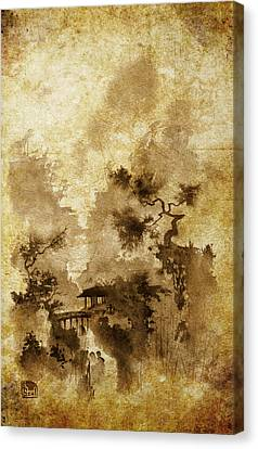 Temple Bridge -altered Canvas Print by Sean Seal