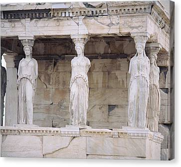 Temple Of Athena Nike Erectheum Canvas Print by Panoramic Images