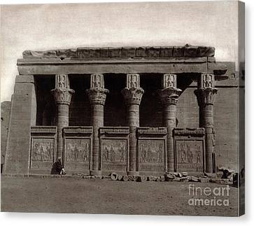 Temple Of Hathor, Early 20th Century Canvas Print by Science Source