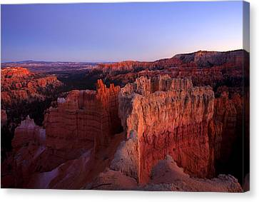 Temple Of The Setting Sun Canvas Print by Mike  Dawson