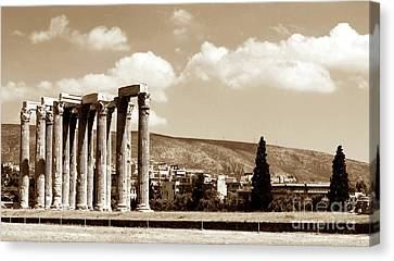 Temple Of Zeus Canvas Print by John Rizzuto