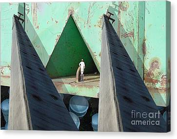 Temple Canvas Print by Ron Bissett