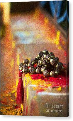 Temple Rudraksha Beads Canvas Print by Tim Gainey