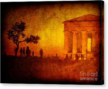 Temple Canvas Print by Silvia Ganora