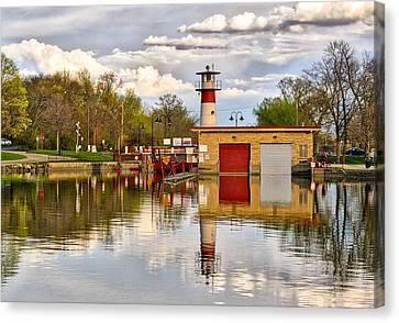 Tenney Lock - Madison - Wisconsin Canvas Print by Steven Ralser