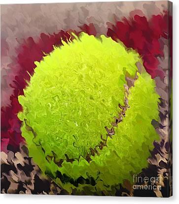 Tennis Ball Abstract By Kaye Menner Canvas Print by Kaye Menner