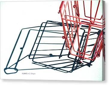 Tennis Court Pickup Basket Canvas Print by Kae Cheatham