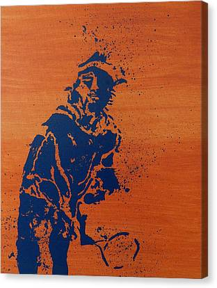 Tennis Splatter Canvas Print by Ken Pursley