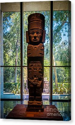 Teotihuacan Figure Canvas Print by Inge Johnsson