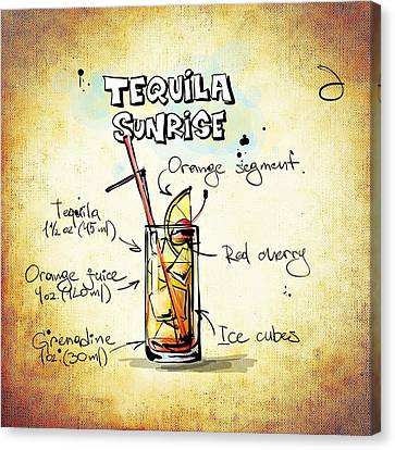 Tequila Sunrise  Canvas Print by Movie Poster Prints