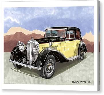 Terific Bentley 1939 Canvas Print by Jack Pumphrey