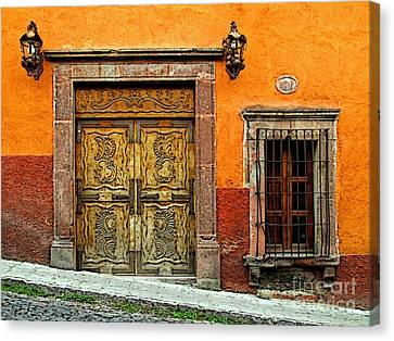 Terracotta Wall 1 Canvas Print by Mexicolors Art Photography