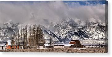 Teton Mormon Row Panorama Canvas Print by Adam Jewell