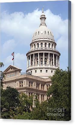 Texas Capitol Canvas Print by Jeannie Burleson