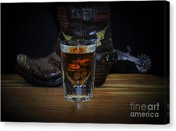 Texas Drink Canvas Print by Ray Shrewsberry