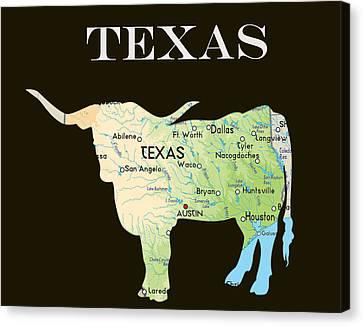 Texas Canvas Print by Art Spectrum