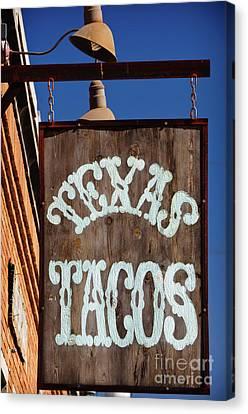 Texas Tacos Canvas Print by Charles Dobbs