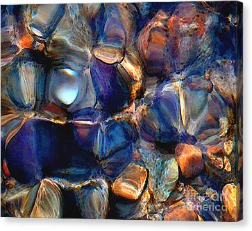 Textures Of A Streambed 6 Canvas Print by Terril Heilman