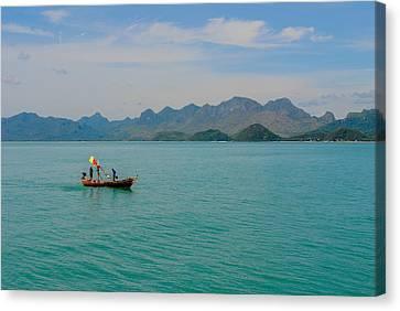 Thai Fisherman Canvas Print by Megan Martens