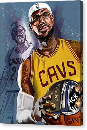 Thank You, Lebron Canvas Print by Terri Meredith