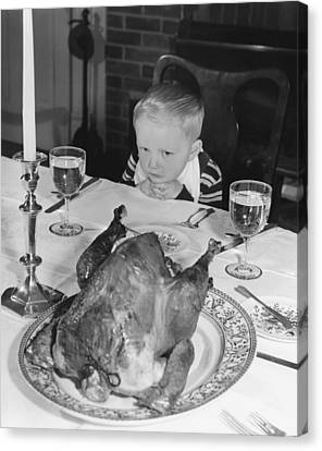 Thanksgiving Dinner Canvas Print by American School